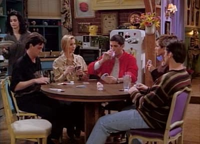 Friends playing poker