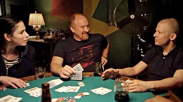 Louis CK playing poker